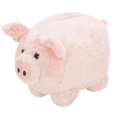 Мягкая игрушка свинка Fluffy Family Свинка копилка меховая искусственный мех трикотаж пластик полиэфирное волокно розовый 18 см