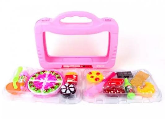 Набор посуды и продуктов Наша Игрушка пластик набор посуды наша игрушка для чаепития пластик