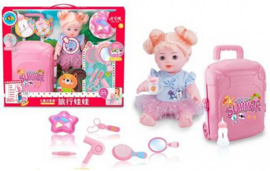 Кукла-путешественница 35 см, пьет, писает, озвуч., аксесс. 9 предм., кор. цена