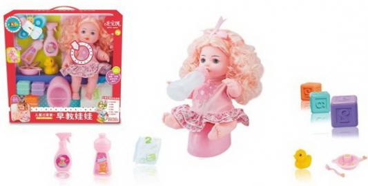 Кукла-путешественница 35 см, пьет, писает, озвуч., аксесс. 11 предм., кор. цена