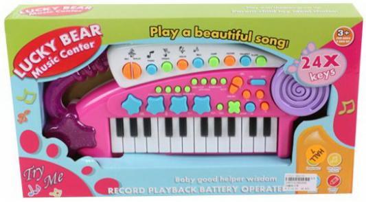 Синтезатор дет. Удачливый музыкант, 24 клавиш, запись, инструкция, батар.AA*4шт. в компл.не вх., кор