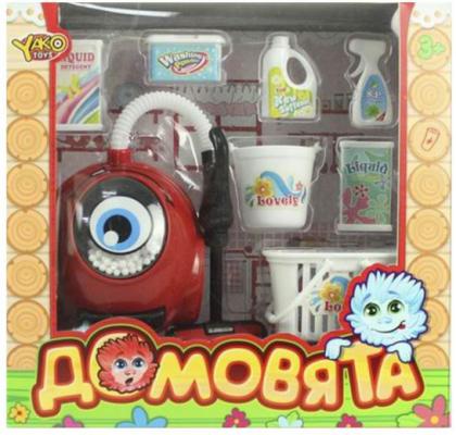 Купить Пылесос Наша Игрушка Домовята со звуком и светом, красный, Детская бытовая техника