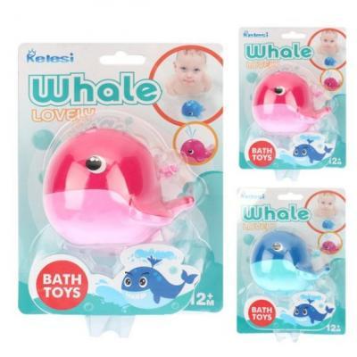 Игрушка для купания для ванны Наша Игрушка Кит-брызгалка игрушки для ванны happy kid toy игрушка для купания водоплавающий кит