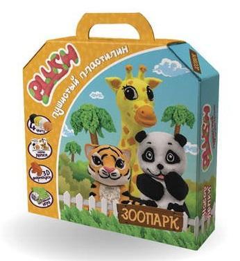 Набор пластилина SLIME Зоопарк 4 цвета