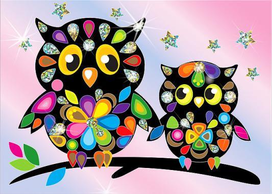 Купить Набор для изготовления картин Клеvер Совы на ветке от 5 лет, Наборы для аппликации