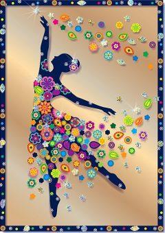 Купить Набор для изготовления картин Клеvер Балерина от 8 лет, Наборы для аппликации