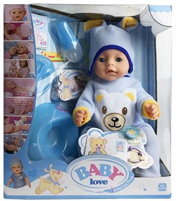 Купить Кукла 43см, функц., с аксесс. в кор. в кор.6шт, Shantou, Интерактивные куклы