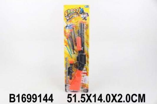 Купить Ружье Shantou Ружьё с присосками черный оранжевый, черный, оранжевый, Размер: 51, 5*14*2 см., для мальчика, Игрушечное оружие