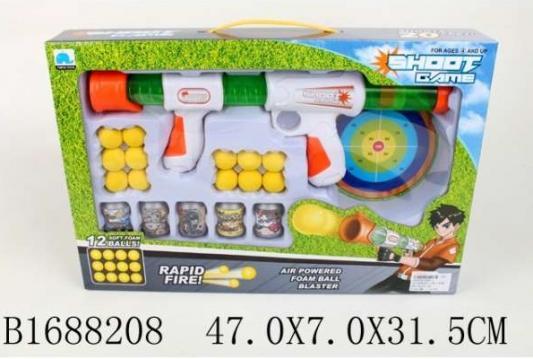 Купить Ружье Shantou Ружье с шарами, с мишенью и банками, разноцветный, 7x47x32см, для мальчика, Игрушечное оружие