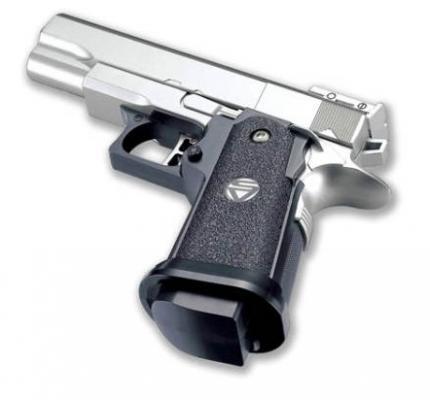 Пистолет Shantou серебристый черный