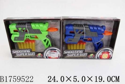 Купить Пистолет Shantou Пистолет с мягкими пулями на присосках цвет в ассортименте, Размеры: 5 x 25 x 19 см., для мальчика, Игрушечное оружие