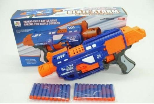 Пистолет Shantou синий оранжевый, синий, оранжевый, размер упаковки390x200x90 мм, для мальчика, Игрушечное оружие  - купить со скидкой
