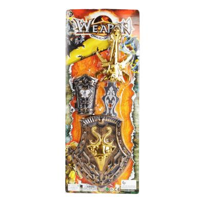 Меч Наша Игрушка Меч со щитом серый золотистый