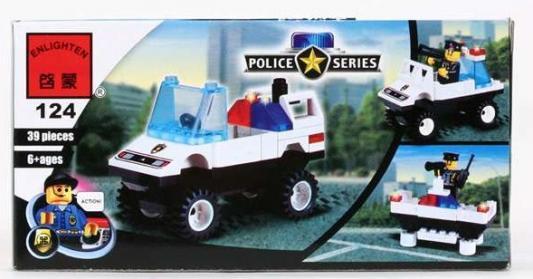 Конструктор ENLIGHTEN BRICK Полицейская техника 39 элементов цены онлайн