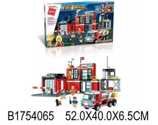 Конструктор ENLIGHTEN BRICK Пожарная станция 523 элемента конструктор enlighten brick trebuchet sqrad 152 элемента brick2304