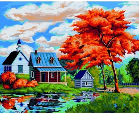 Рисование по номерам Фабрика творчества Осень в деревне quot фабрика дана мебель нахабино quot
