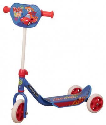 Самокат Moby Kids Мечта 150/120 мм синий самокат трехколёсный moby kids junior light 2 0 120 76 мм синий 641135