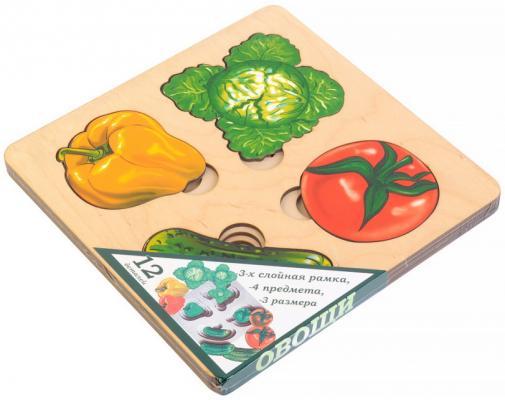 Фото - Рамка-вкладыш Нескучные игры Больше-меньше. Овощи рамка вкладыш нескучные игры фрукты