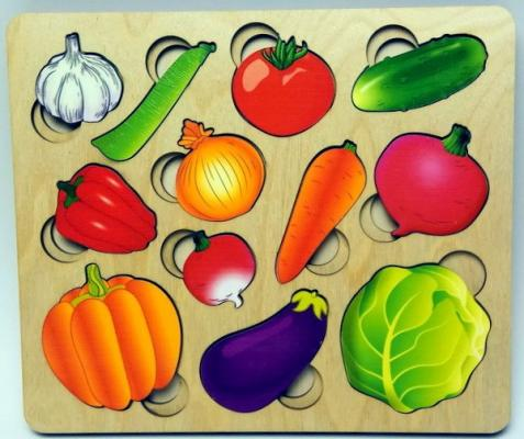 Фото - Рамка-вкладыш Нескучные игры Овощи рамка вкладыш нескучные игры фрукты