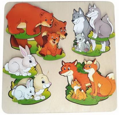Фото - Рамка-вкладыш Нескучные игры Дикие животные рамка вкладыш нескучные игры фрукты