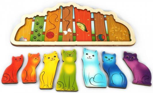 Фото - Рамка-вкладыш Нескучные игры Разноцветные котята рамка вкладыш нескучные игры фрукты