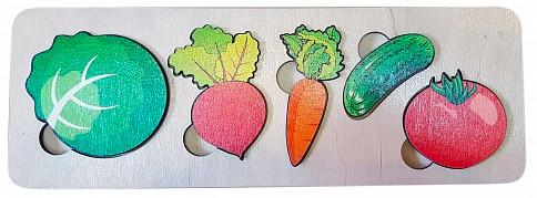 Фото - Развивающая рамка Нескучные игры Овощи рамка вкладыш нескучные игры фрукты