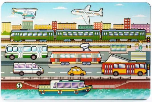 Купить Рамка-вкладыш Нескучные игры Городской транспорт , Развивающие игрушки из дерева