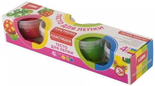 Купить Набор для лепки Lori Пластилишка № 8 4 цвета, Тесто и масса для лепки