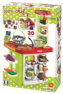 Игровой набор Ecoiffier Супермаркет 20 предметов 1784 écoiffier игровой набор ecoiffier clean home тележка для уборки с пылесосом 10 предметов