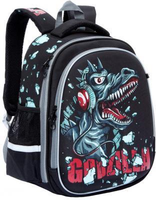 Школьный рюкзак светоотражающие материалы GRIZZLY Годзилла черный RA-778-7/1 рюкзак школьный grizzly ra 672 2