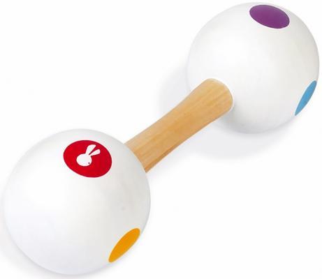 Купить Маракасы Janod двусторонний J07610, белый, Детские музыкальные инструменты