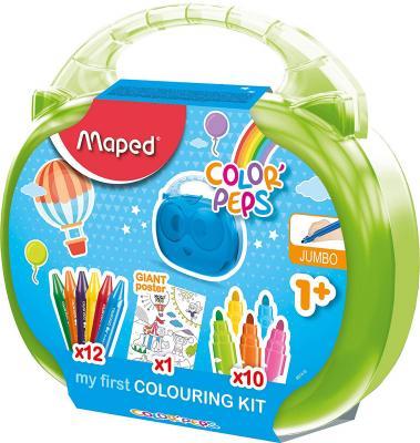 Купить Набор для рисования Maped Color' Peps - Jumbo (раскраска, 12 мелков, 10 фломастеров) 897416 в ассортименте, Прочие краски