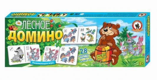 Настольная игра Русский Стиль развивающая Лесное домино 3195 настольная игра развивающая русский стиль панорама каникулы в простоквашино 3472