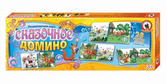 Настольная игра Русский Стиль развивающая Сказочное домино 3194 настольная игра развивающая русский стиль панорама каникулы в простоквашино 3472