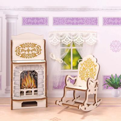 Игровой набор Одним прекрасным утром Камин и кресло-качалка - коллекция Барокко 59790