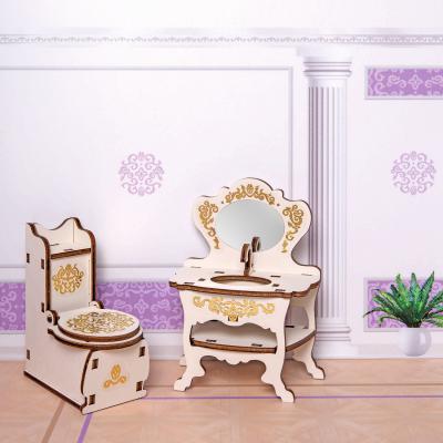 Фото - Игровой набор Одним прекрасным утром Туалетная комната - коллекция Барокко 59797 яигрушка набор мебели одним прекрасным утром два стула коллекция барокко