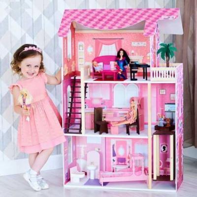 Кукольный домик Монте-Роза, для кукол до 30 см (19 предметов мебели и интерьера) кукольный домик paremo милана с 15 предметами мебели