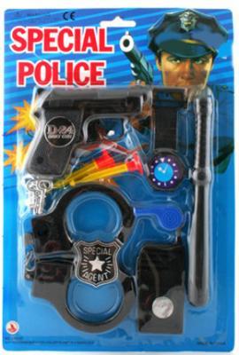 Набор оружия Наша Игрушка Полиция, 8 предметов черный К0303 цена