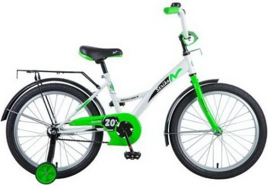 """Велосипед NOVATRACK """",Strike"""", 20"""", бело-зеленый"""