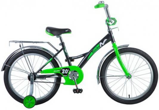 """Велосипед NOVATRACK """",Strike"""", 20"""", черно-зеленый"""
