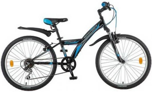 Велосипед NOVATRACK Racer 24 черный велосипед детский novatrack action цвет черный 24