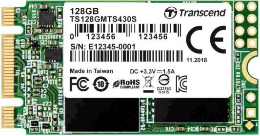 цена на Твердотельный накопитель SSD M.2 128 Gb Transcend TS128GMTS430S Read 560Mb/s Write 500Mb/s 3D NAND