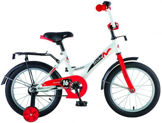Велосипед Novatrack Strike 18 бело-красный 183STRIKE.WTR8 велосипед детский novatrack urban цвет красный 18