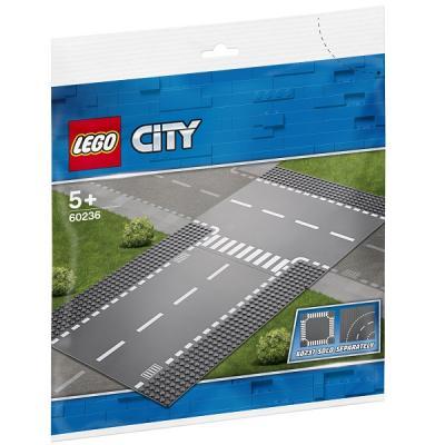 Конструктор LEGO Город: Прямой и Т-образный перекрёсток 2 элемента 60236 lego city 60236 конструктор лего город прямой и т образный перекрёсток