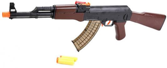 Автомат Shantou АК-47 с мягкими и гелевыми пулями коричневый черный B1595554 автомат shantou h17a с гелевыми пулями с глушителем с лазерным прицелом черный b1667820