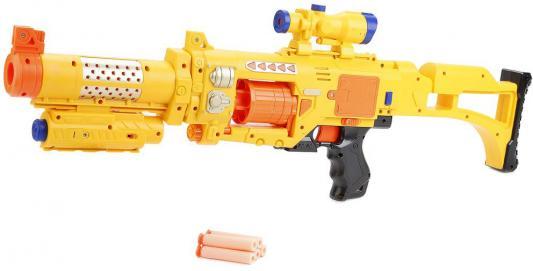Купить Автомат Shantou c мягкими пулями на присосках XMY7028 желтый B1049108, 7 x 74 x 24 см, для мальчика, Игрушечное оружие