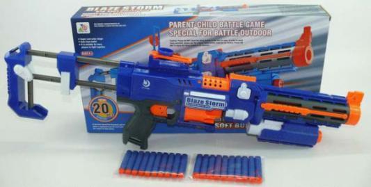 Автомат Shantou С фонариком и мягкими пулями 7056 синий B1183812 автомат shantou 7012 синий b1319729
