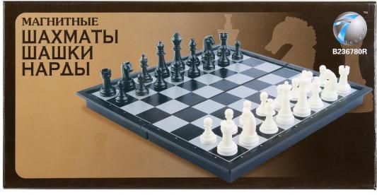 Настольная игра Shantou стратегическая 3-в-1 (шахматы, шашки, нарды) 38810 1065690 игра madon шахматы туристические 3 в 1 181 142