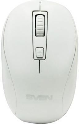 Беспроводная мышь SVEN RX-255W белая (2,4 GHz, 3+1кл. 800-1600DPI, цвет. картон)