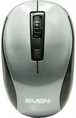Беспроводная мышь SVEN RX-255W серая (2,4 GHz, 3+1кл. 800-1600DPI, цвет. картон)
